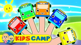 Learn Colors with Wheels On The Bus Finger Family Nursery Rhymes for Children by KidsCamp