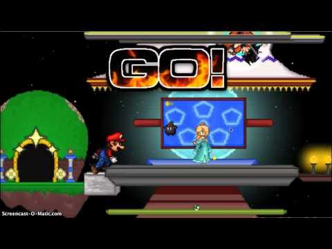 Super Smash Flash 2 dark plays with lil bro fireewolf