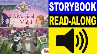 Sofia the First Read Along Story book | A Magical Match | Read Aloud Story Books for Kids