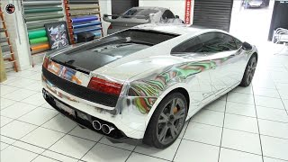 Lamborghini recebe envelopamento cromado [FULLPOWER TV]
