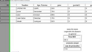 practica suma campos BD jsp