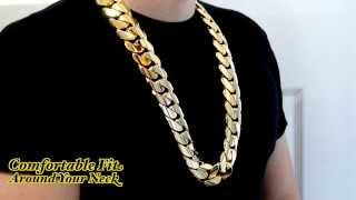 Big Huge Fat Chunky 2 Kilo 30mm Miami Cuban Link Chain HD Hand Made Custom Daniel Jewelry Inc