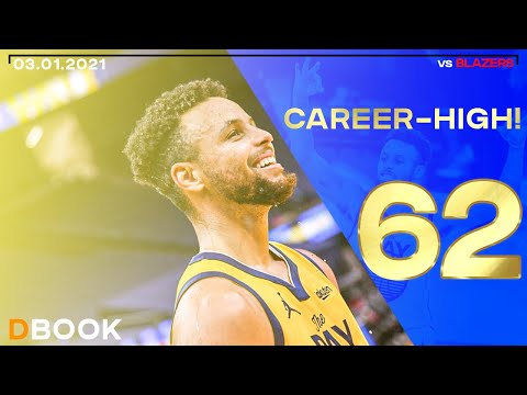 Stephen Curry 62 Points Career High vs Blazers ALL HIS BUCKETS ● 03.01.2021 ● NBCSBA FEED ● 60 FPS