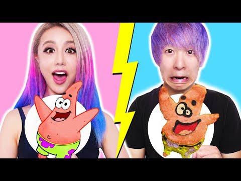 Xxx Mp4 GF VS BF Pancake Art Challenge Learn To Make Spongebob The Powerpuff Girls Emojis Pokemon 3gp Sex