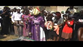 Burial Ceremony of Fr Gabriel Okola at St. Theresas Catholic church in Kibuye, Kisumu, Kenya