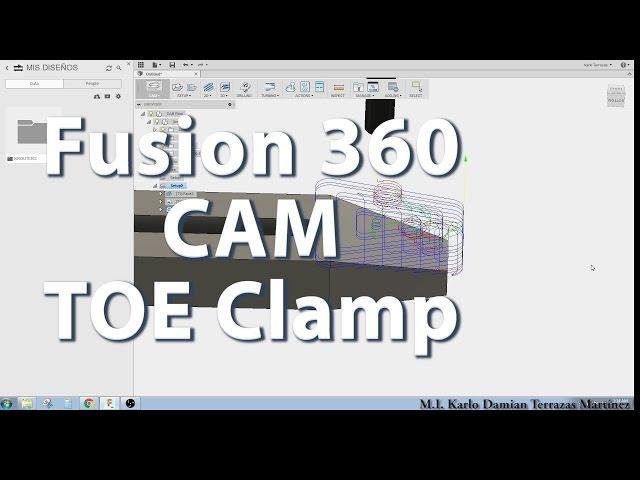 Tutorial Fusion 360 en español - Diseño de Toe clamps para CNC router