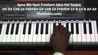 Dheere Dheere Se Meri Zindagi Piano Tutorials - Aashiqui