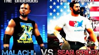 WWE 2K16 - Malachi vs. Sean O'Riley | Simulation Match HD |