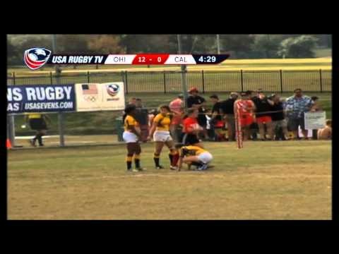 Ohio State vs. California - Women's Match 32 - 2012 USA Rugby College 7s National Championship