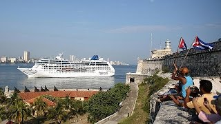 US cruise ship docks in Havana over 40 years since the last sailed the Florida Straits