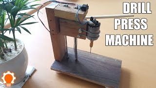 How to make a Drill Press Machine at home? (DIY)