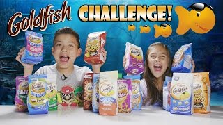 GOLDFISH CHALLENGE!!! Blind Taste Test Face Off!
