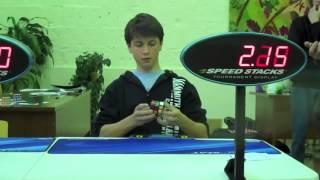 أسرع شخص يحل مكعب روبيك بطولة العالم world record  rubiks  cube