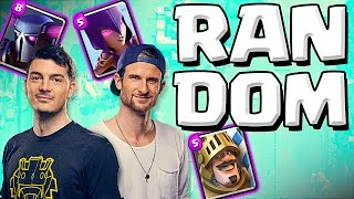RANDOM DECK CHALLENGE  ::  Clash Royale  ::  OPPONENT CHOOSES MY DECK!