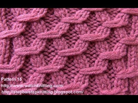 Hexagonal Embossed Patterns Free Knitting Patterns Tutorial Watch Knitting pattern 15