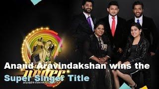 Airtel Super Singer 5 Grand Finale Title Winner - Anand Aravindakshan