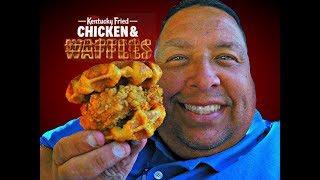 Kentucky Fried CHICKEN & WAFFLES Sandwich REVIEW! CC
