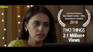 Girl talks to her fiance about her MMS scandal | TWO THINGS | Short film by Tales N' Talkies