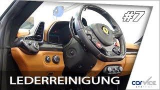 Professionelle Lederreinigung Und Pflege Bei Einem Ferrari 458 Spider