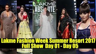 lakme Fashion Week Summer Resort 2017 Full Show | Kareena, Bipasha, Maliaka, Urvashi, Preity Zinta