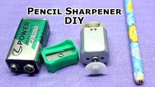 How to Make Easy Pencil Sharpener DIY at Home|Electric Pencil Sharpener||electric pencil|