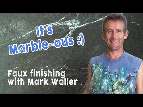 Faux Painting Marbling Over The Shoulder with Mark Waller