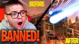 I GOT BANNED FOR *DESTROYING* TILTED TOWERS!! PLAYERS HACKING! FORTNITE BATTLE ROYALE NEW GAME MODE!