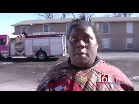 Woman Gives Funny Interview After A Fire