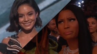 Nicki Minaj Throws Shade at Vanessa Hudgens during Drake's acceptance speech