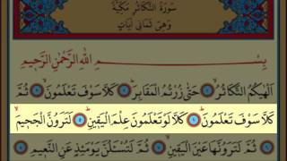 Surah Al-Takathur(102) by Nasser Al Qatami Majestic Recitation(Tekasür Suresi)