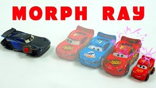 Jackson Storm uses a Morph Ray Device on Mack Hauler and Lightning McQueen Disney Stopmotion CARS