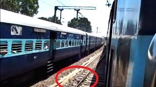 Dog Trapped Under PARALLEL MOVING TRAIN Comes Out Unhurt - Indian Railways