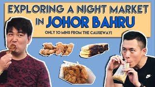 GIANT NIGHT MARKET IN JOHOR BAHRU | TSL Vlogs