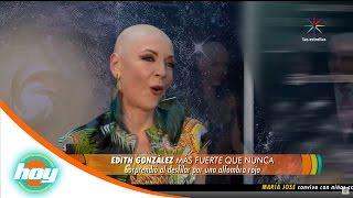 Edith González enfrenta al cáncer con actitud | Hoy