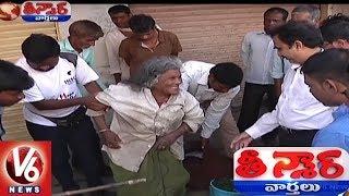 Sangareddy Collector Venkateshwarlu Rescues Homeless And Destitute People | Teenmaar News