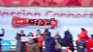 4 Man Bobsled Finals at PyeongChang Olympics- Korea 2018