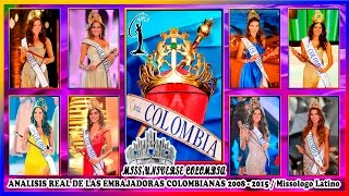 MISS UNIVERSE COLOMBIA 2008-2015