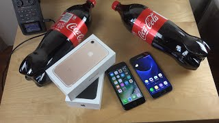 iPhone 7 vs. Samsung Galaxy S7 Coca-Cola Freeze Test 9 Hours! Will They Survive?!