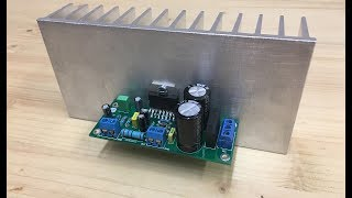 How to make TDA7294 100W audio amplifier