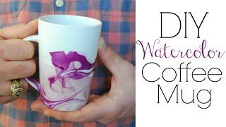 Watercolor Coffee Mugs - Easy DIY Gifts