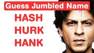Bollywood Actors Jumble Challenge! Guess Names in 8 seconds