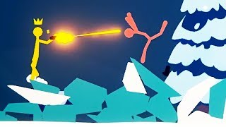 CRAZIEST ICE LEVEL DOMINATION and TELEPORTING Players! - Stick Fight Gameplay