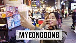 Exploring Myeongdong Night Street Markets   Korea Day 3