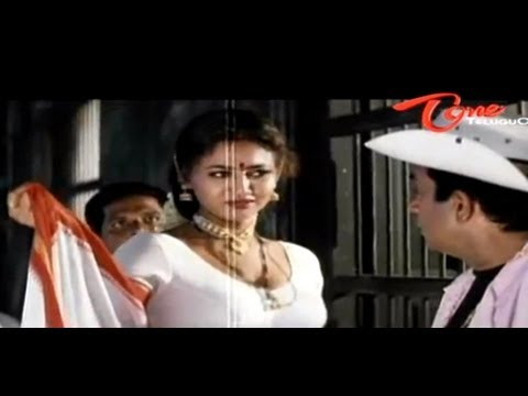 Raksha Hot Cleavage Show To Brahmanandam