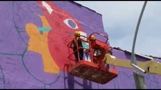 A Tres Manos participa en #AyacuchoTeQuieroMucho con el mural Somos primavera de colores.