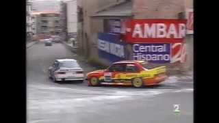 Bassas does a brutal overtake on Goiburu at Alcañiz Street Circuit CET '93