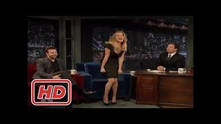 [Talk Shows]Amber Heard & Jason Sudeikis - Jimmy screams like a little girl