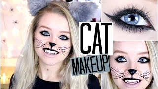 Halloween: CAT MAKEUP | sophdoesnails