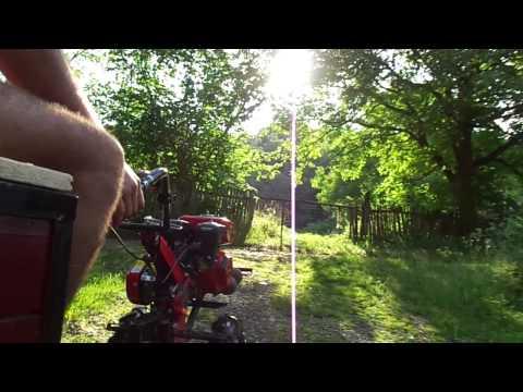 Motosapa Rotakt ROG80 cu remorcă făcută acasă