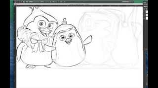 Baby Penguins of Madagascar drawing